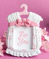 Cute Baby Girl Pink Photo Frame / Place Card Holder
